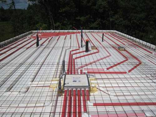Insulated Slab On Grade Foundation Forms Radiant Heated