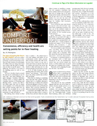 Award Magazine - The Benefits of In-Floor Heating: Convenient, Efficient & Healthy with Legalett Air-Heated Radiant Floors