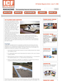 ICF Builder Magazine: ICF Floors Have Arrived! Featuring Legalett  Shallow Slab Foundations