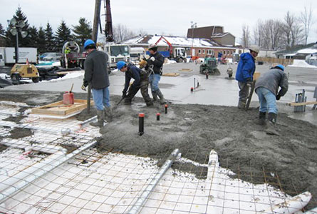 The insulated basement icf floor slab foundations for Slab on grade ontario