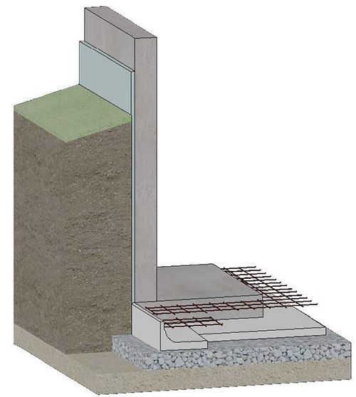 The insulated basement icf floor slab foundations for Slab foundation vs basement
