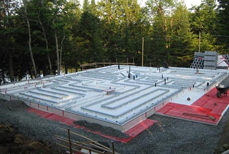Geo slab frost protected shallow foundations radiant for Slab on grade ontario