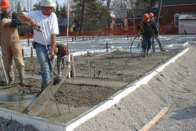How frost protected shallow foundations work radiant for Best temperature to pour concrete foundation