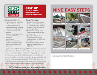 GEO-Slab Brochure - Overview of Frost Protected Shallow Foundations and Air Heated Radiant Floor Heating Systems - Toronto, ON