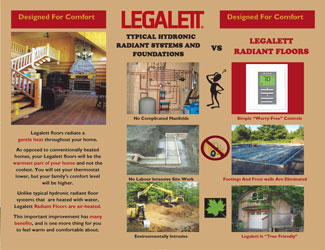 Legalett Brochure - Air-Heated Floors Unique Advantages with Frost Protected Shallow Foundations & Radiant Floor Heating Systems - ON