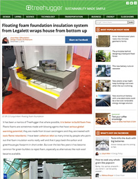 TreeHugger.com Reviews Legalett's Floating Foam Foundation Insulation System - ThermalWall PH Panel